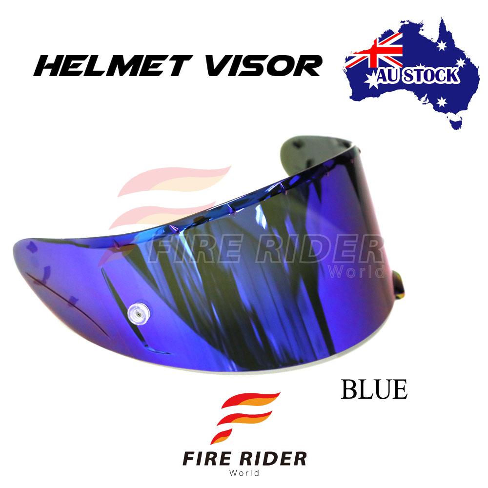 59c43ef8 For Shoei RF-1200 X14 RF-SR Blue Tinted Racing Helmet Visor Shield ...