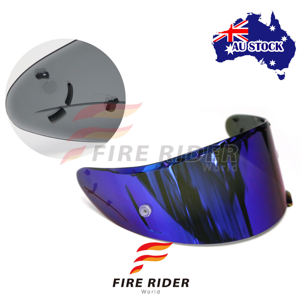 a0cb6980 Details about For Shoei RF-1200 X14 RF-SR Blue Tinted Racing Helmet Visor  Shield
