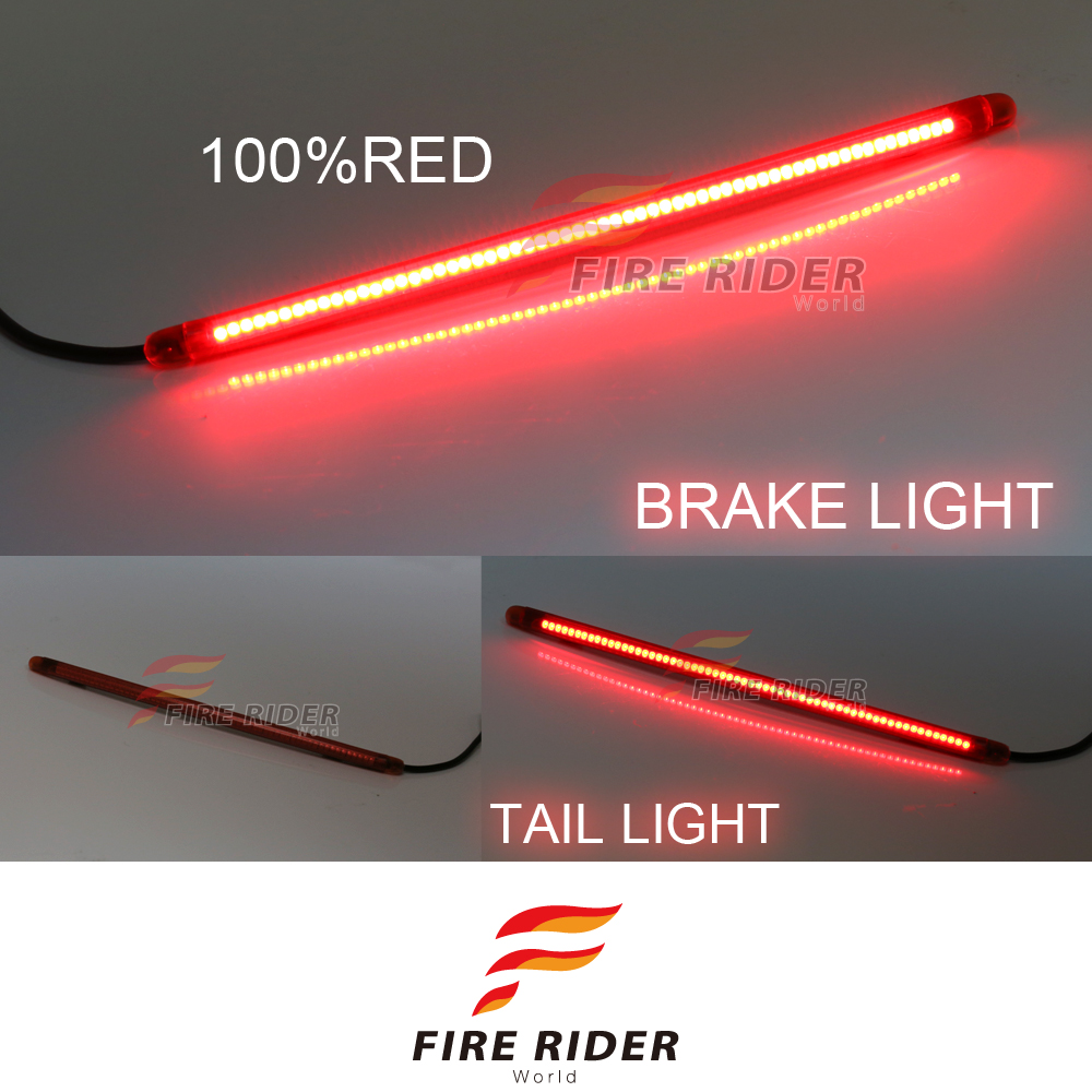 Details About 12 90pcs Led Red Strips Rear Brake Tail Red Light For Husqvarna Motorcycles