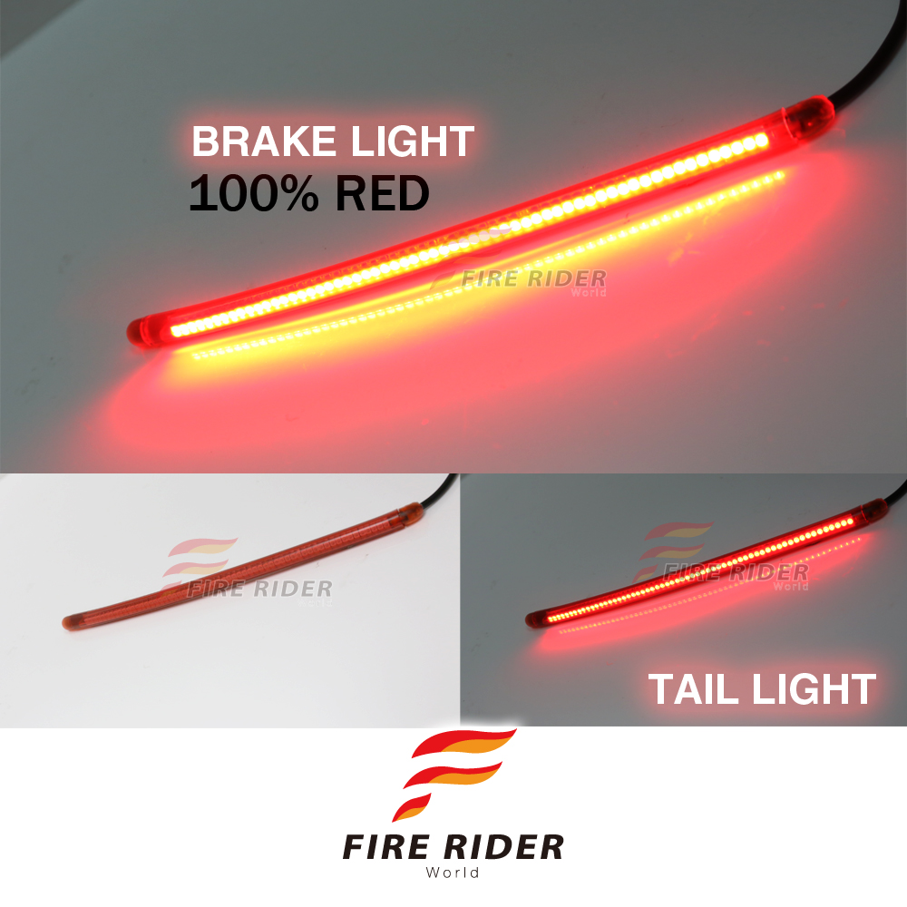 Details About 14 110pcs Led Smoke Strips Rear Brake Tail Red Light For Honda Motorcycles