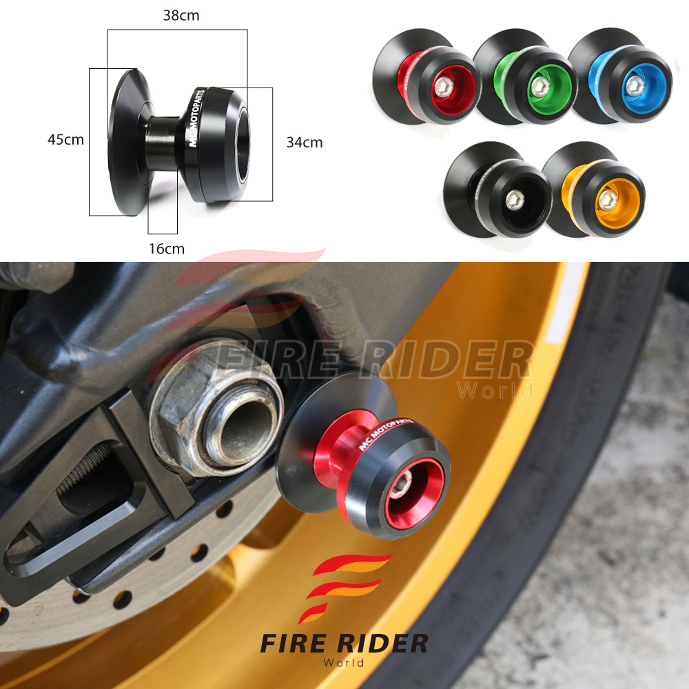 8mm CNC Swingarm Spools Sliders For Suzuki GSX1300R Hayabusa 2008-2016 09 10 11