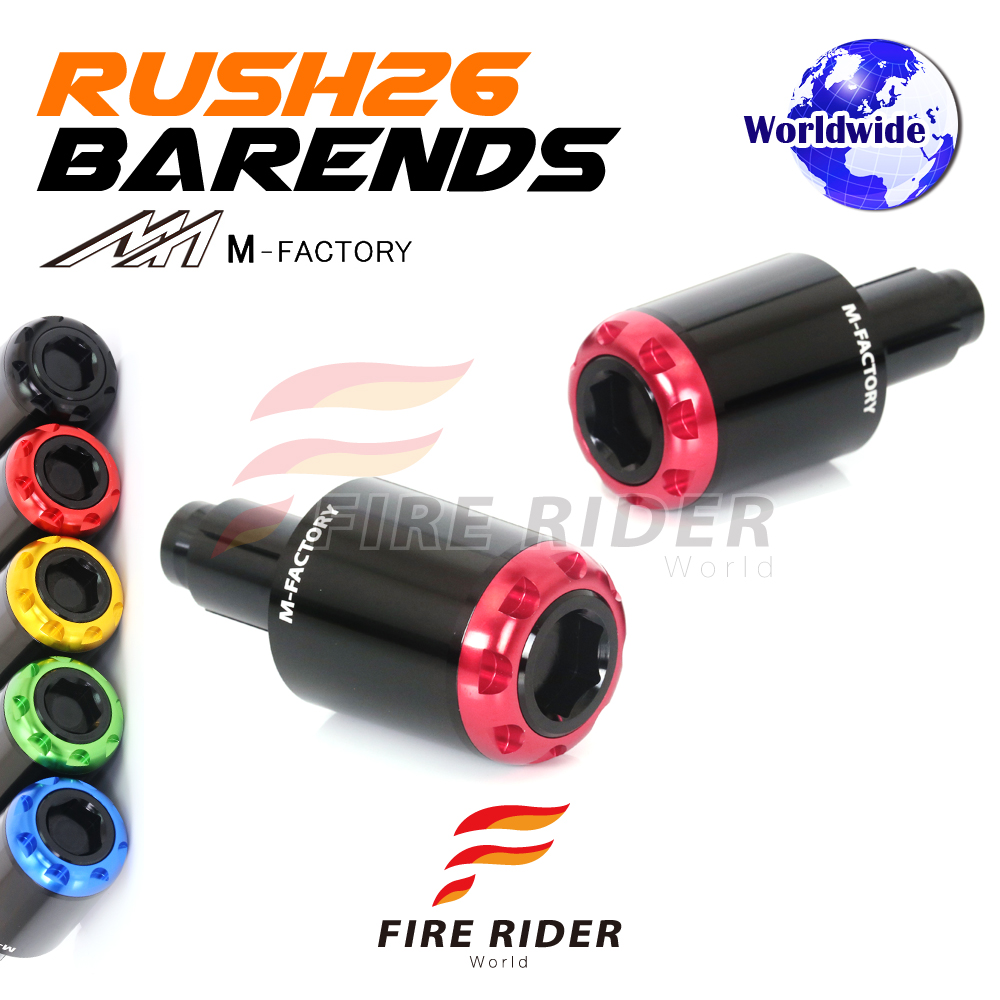 RUSH26 CNC Bar Ends Handlebar Weights For Suzuki Hayabusa GSX1300R 08 17 11  12