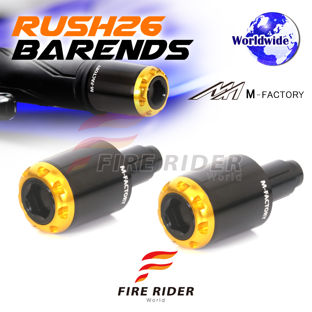 Image Is Loading New Gold RUSH26 CNC Bar End Plugs For