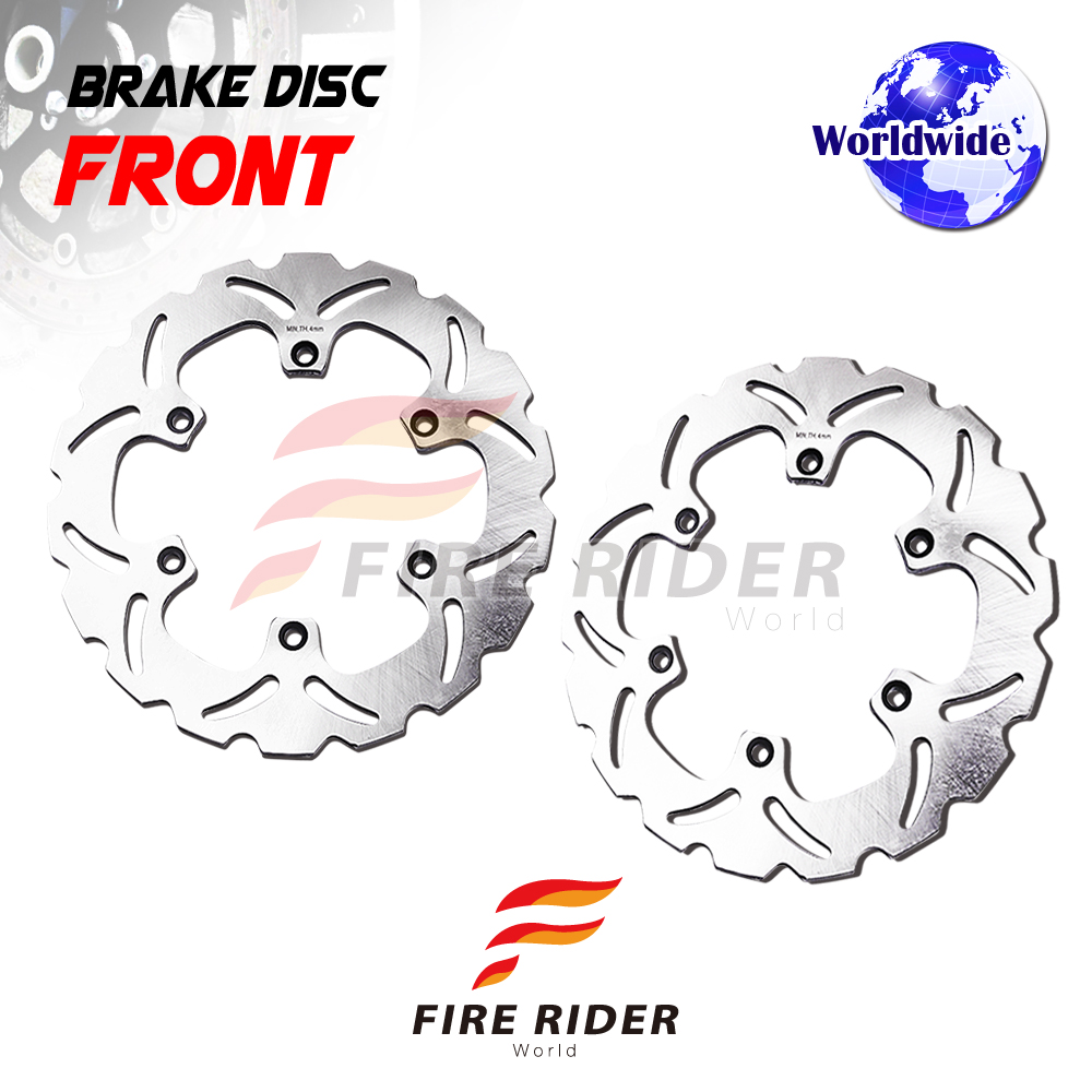 Frw 2x Front Brake Disc Rotor For Yamaha Rd 350 Lc 83 93