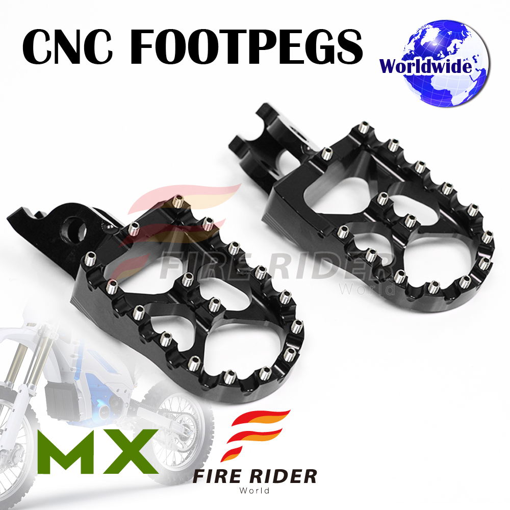 Frw Cnc Dirt Front Black Foot Pegs For Honda Crf 150 07 16 08 09 10 Bikes 11 12 13 14