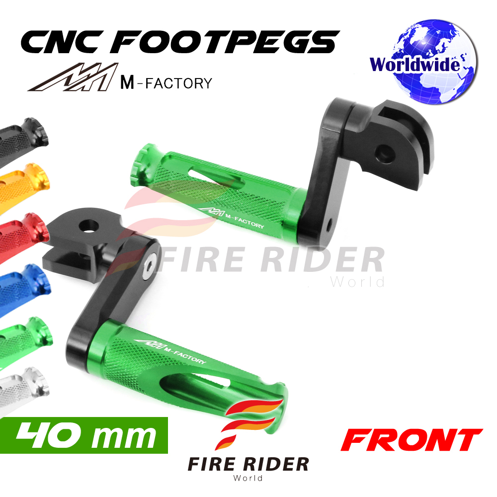 POLE Gold CNC 25mm Extension Riser Front Foot Pegs For Kawasaki Z125 //Pro 2016-2017