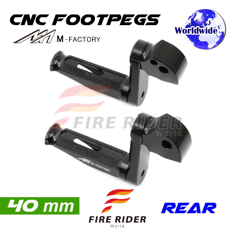 For-Ducati-Hyperstrada-821-13-16-13-14-15-40mm-Riser-BK-CNC-Billet-Rear-Footpegs