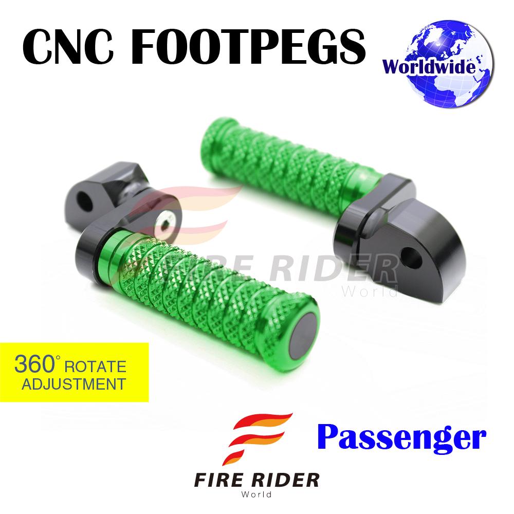 POLE Black CNC 25mm Extension Riser Front Foot Pegs For Yamaha FJR 1300 2001-2013