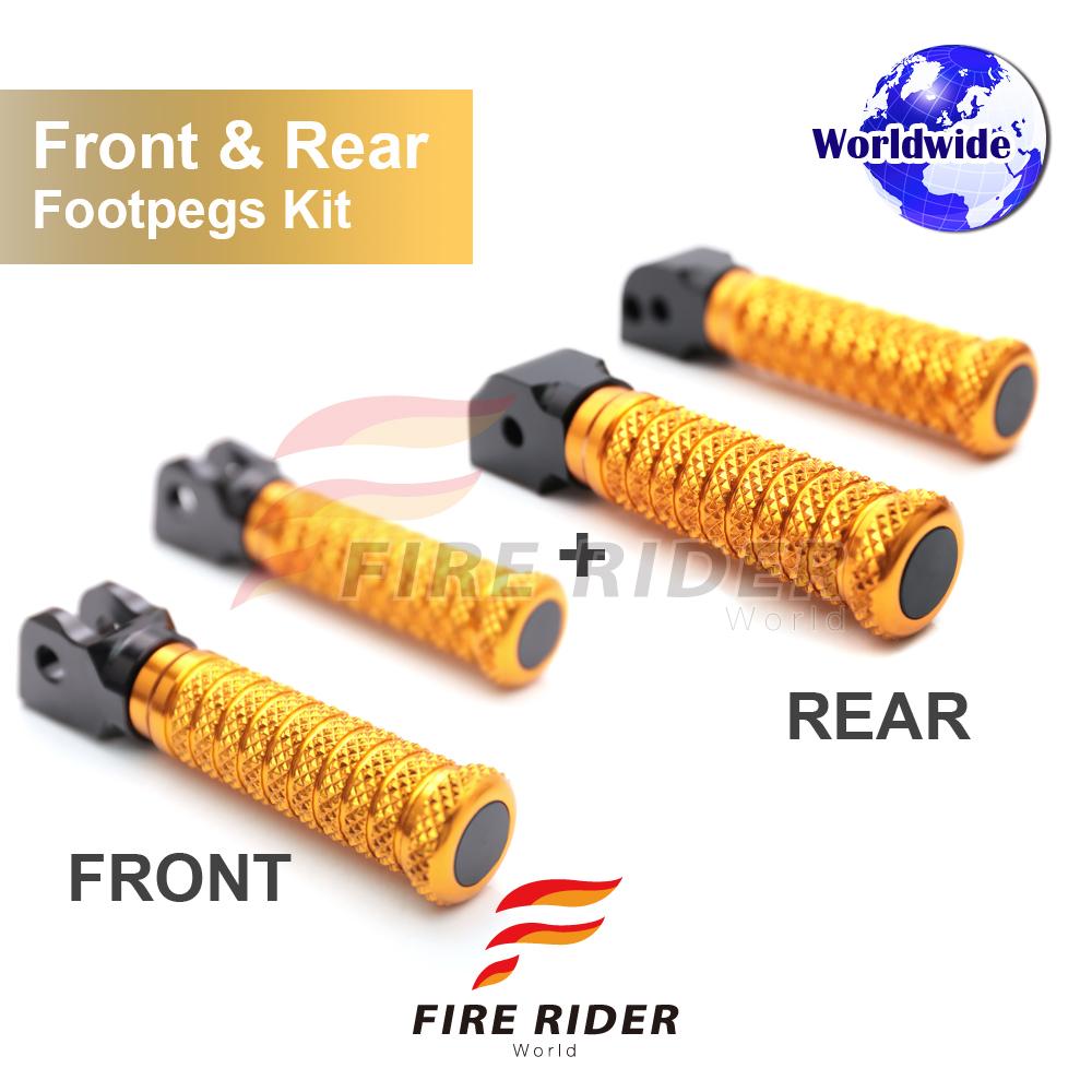 FRW CNC 6Color Rear Footpegs For Suzuki DL 1000 V-Strom 02-12 03 04 05 06 07 08