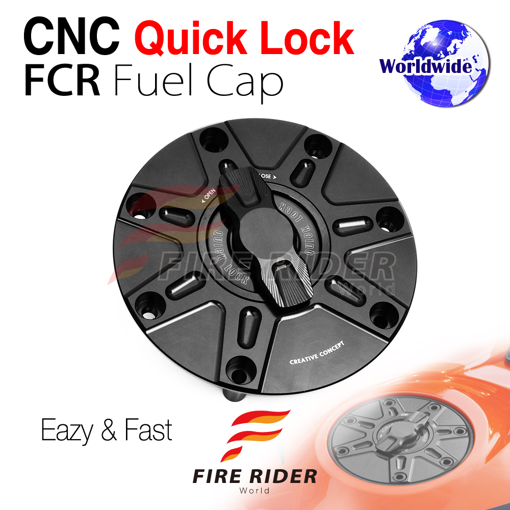 NIMBLE Black CNC 1//4 Quick Lock Fuel Cap For Honda CBR 600 F4I F4 F3 F2 1991-2008
