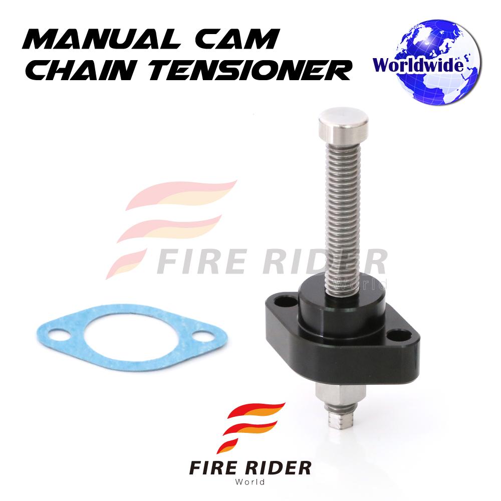 Black CNC Manual Cam Chain Tensioner For Kawasaki ZX-10R Ninja 06-15 07 08 09 10 11 12 MC Motoparts